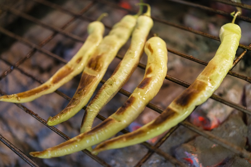 grilled hot pepper
